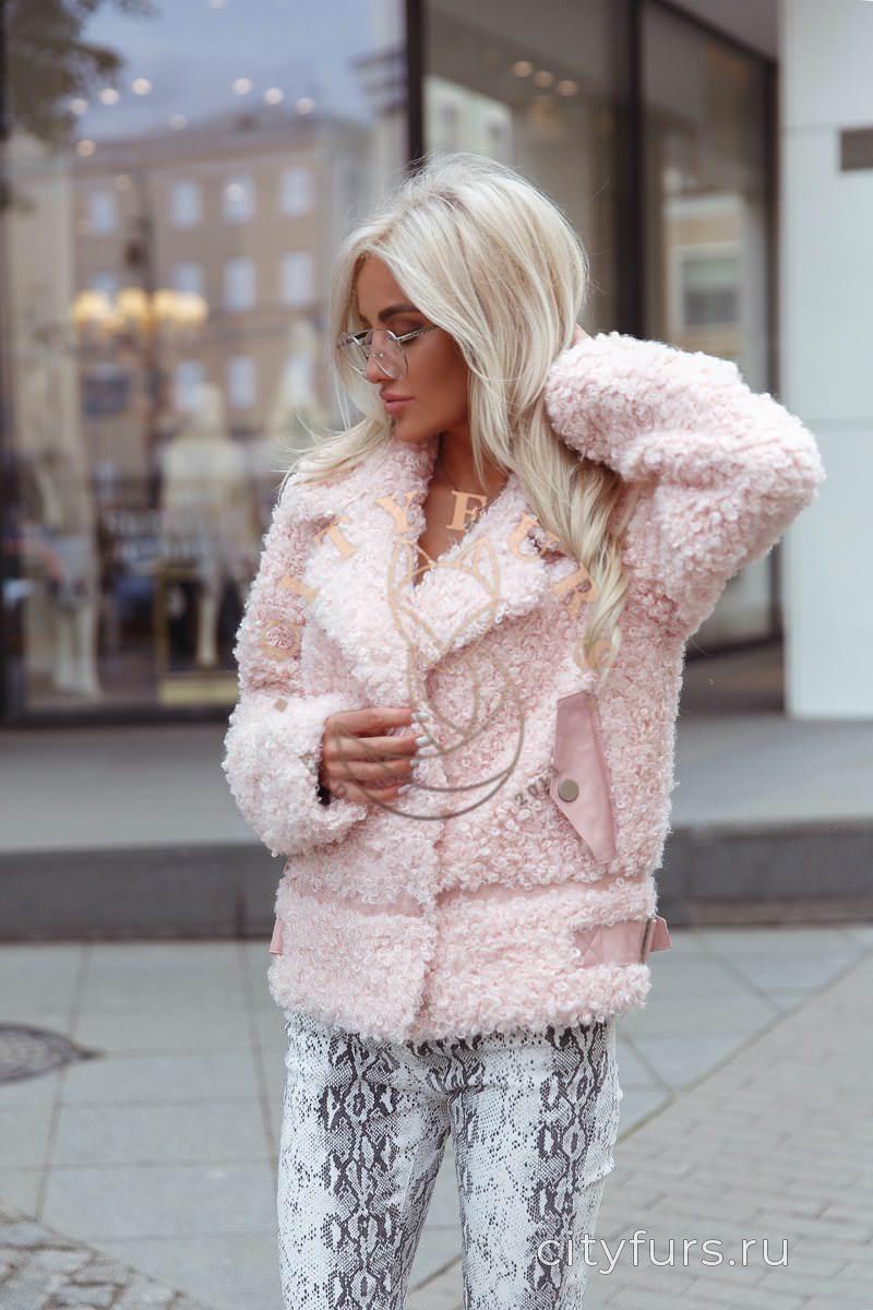 Курткакосуха из Экомеха розовый