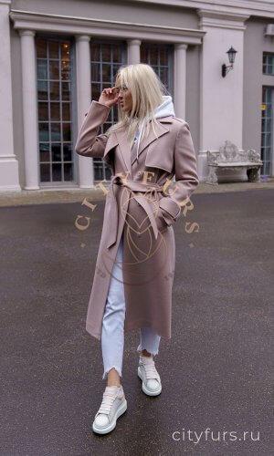 Демисезонное пальто цвет капучино