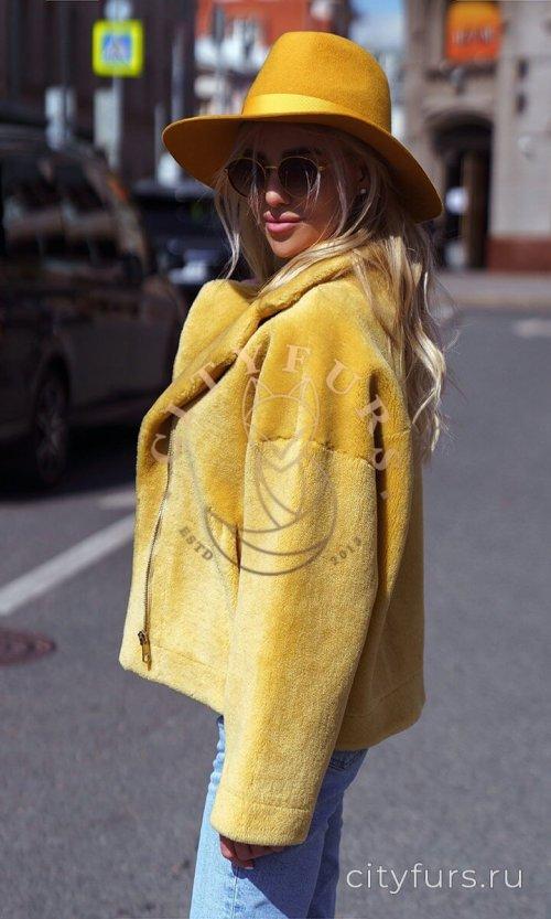 Косуха из овечьей шерсти - цвет желтый