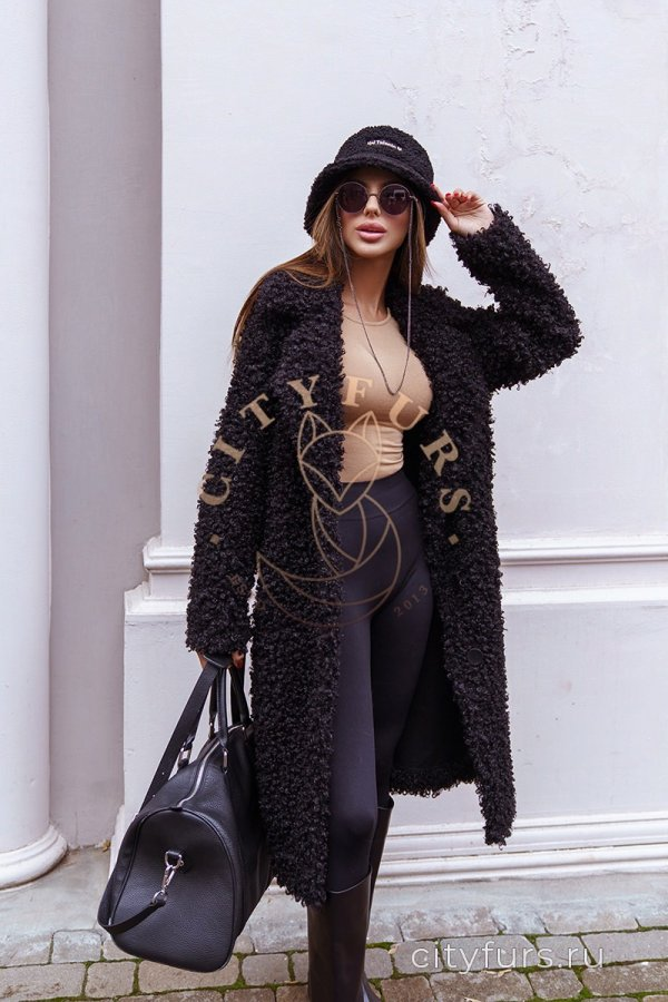 Пальто двухстороннее - цвет черный