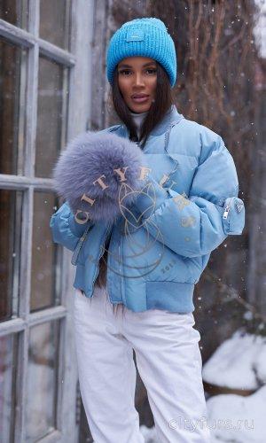 Пуховик - цвет голубой
