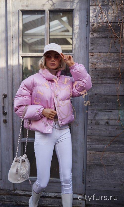 Пуховик-трансформер в жилет - цвет розовый