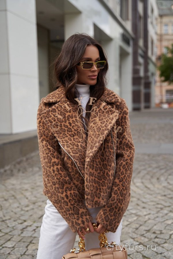 Косуха из экомеха - цвет темный леопард