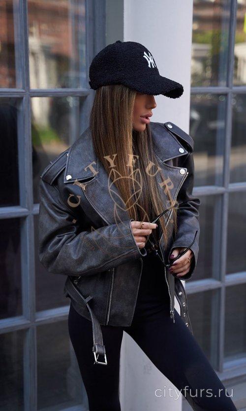 Винтажная косуха в стиле «Oversize» - цвет черный